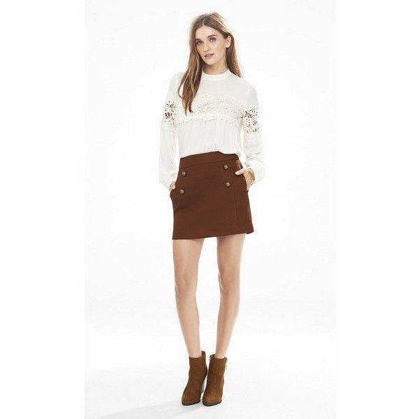 Express High Waisted A-line Sailor Mini Skirt ($60) ❤ liked on ...