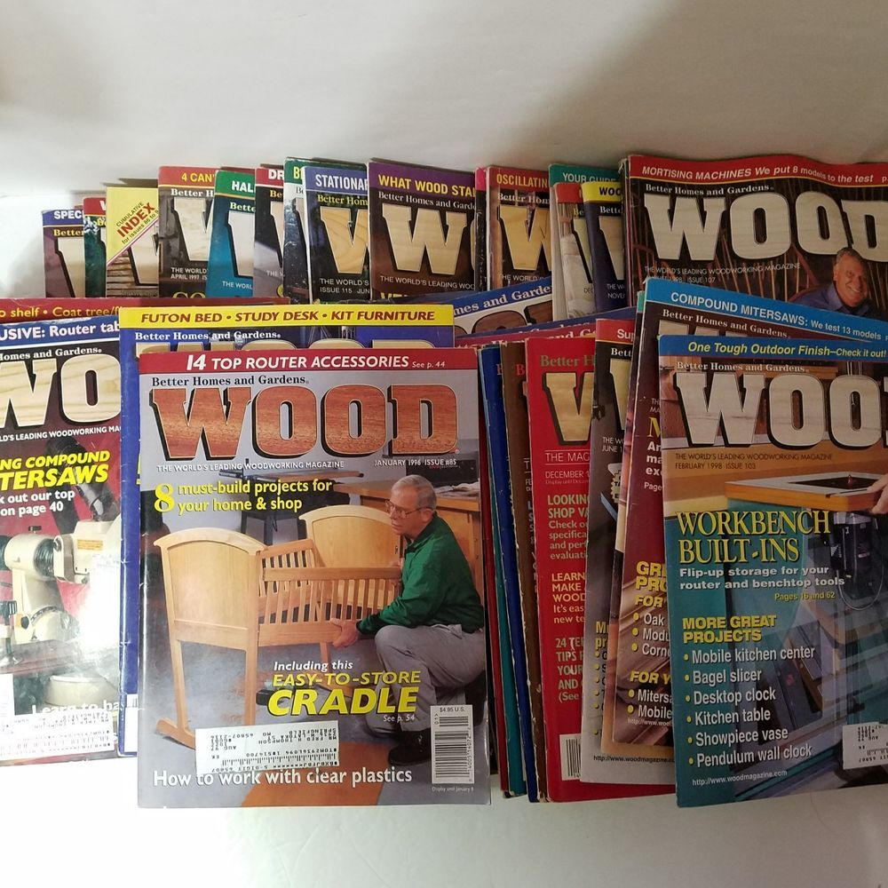 Superbe Lot Of 42 Better Homes And Gardens Wood Magazines Early Issues 26  119