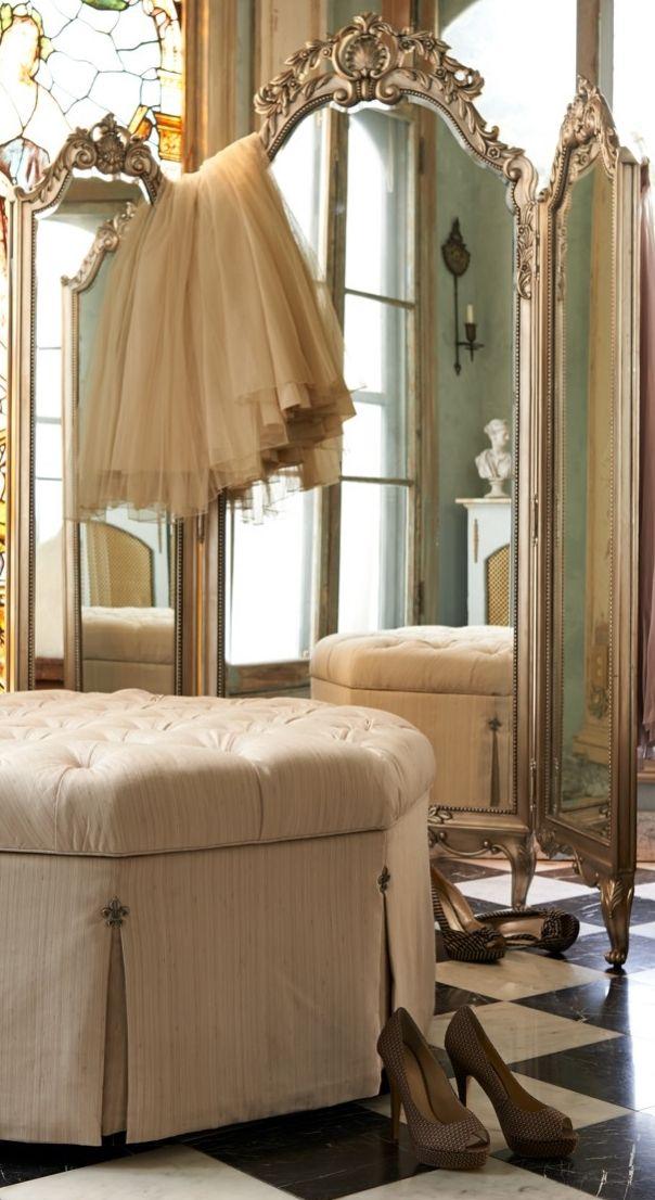 Elle Trifold Floor Mirror Suite Inspiration Bedroom