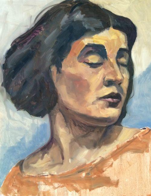 Kemp 2016 – Tina Modotti 70x90cm oil on canvas « Kemp paints people Werkvankemp.nl