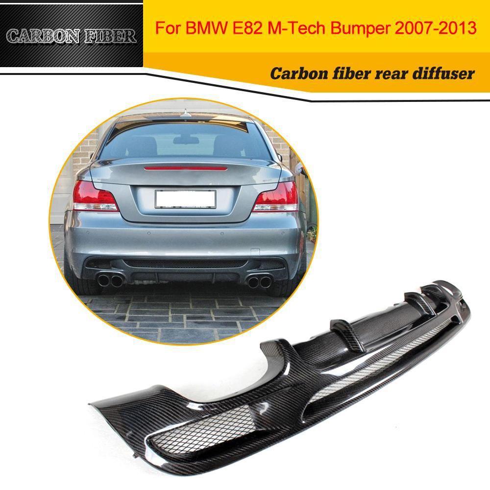 Carbon Fiber Racing Rear Diffuser Lip Spoiler For Bmw 1 Series E82