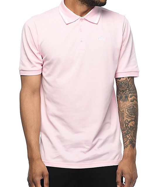 22554607 Nike SB Dri Fit Pique Knit Pink Polo Shirt | Pastel Dreams | Nike SB ...