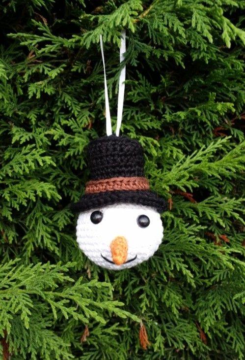 Christbaumkugeln Elch Schneemann Weihnachtself Häkelmusters