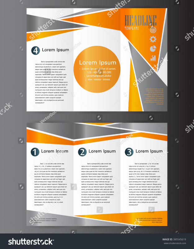 Brochure 4 Fold Template New Professional Business Three Fold Flyer Template Stock Photo Edit Best Te Brochure Template Flyer Template Free Brochure Template