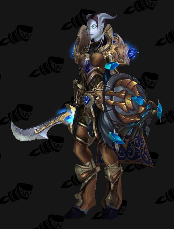 Paladin lvl 100 Battlegear of Guiding Light (Blue/Gold