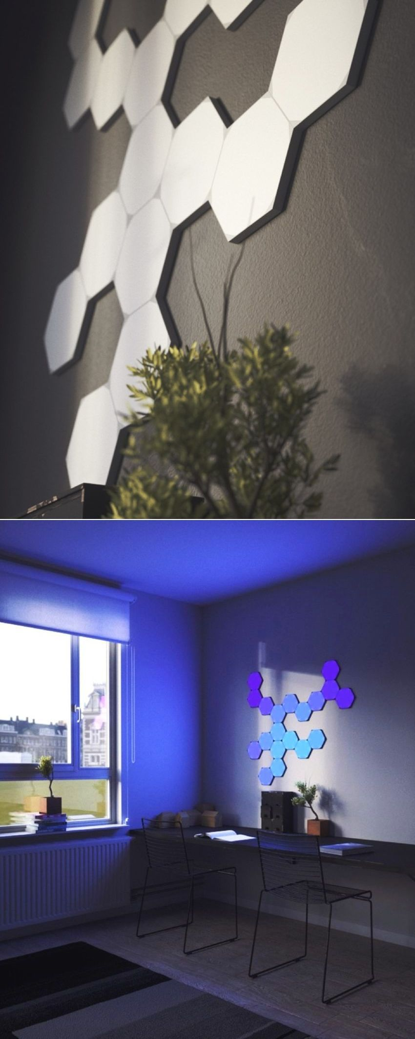 Nanoleaf HomeKitEnabled Hexagonal LED Light Panels at CES