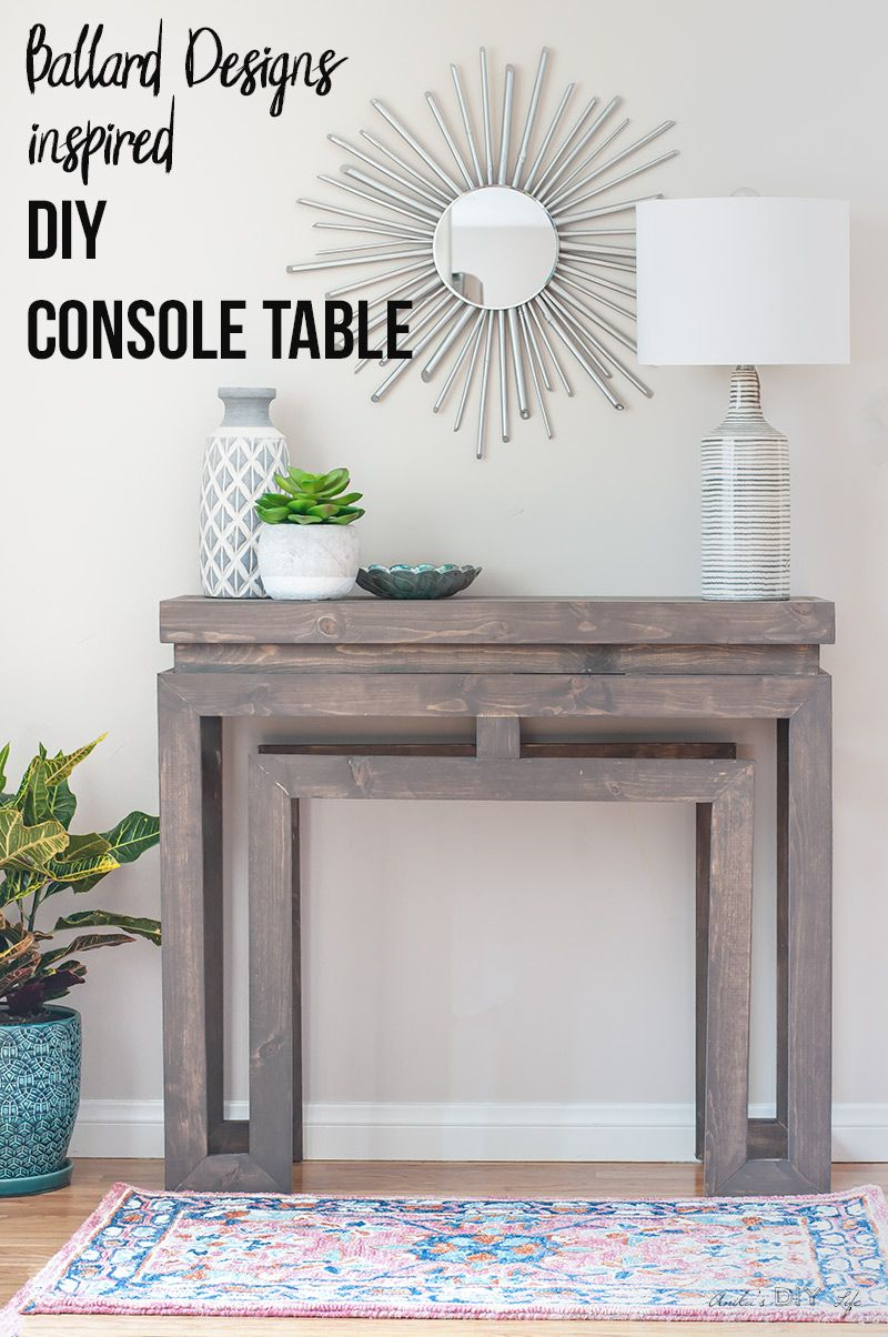 how to build a diy ballard designs-inspired console table | do it