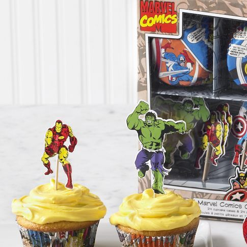Marvel superheroes cupcake decorating kit Williams Sonoma Party