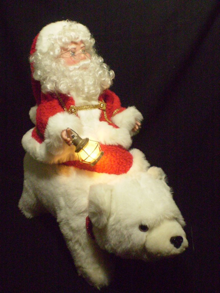 Rare animated illuminated santa 39 s best motionette type for Animated polar bear christmas decoration
