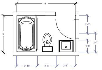 Bathroom Design 7' X 8' small bathroom floorplan | dream house | pinterest | small