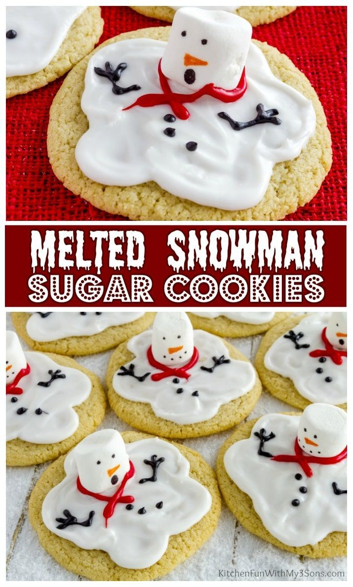 Photo of Melted Snowman Cookies
