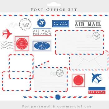 Post Office Clipart Stamps Mail Clip Art Postal Postage Vintage Letters Letter Borders Clip Art Vintage Lettering