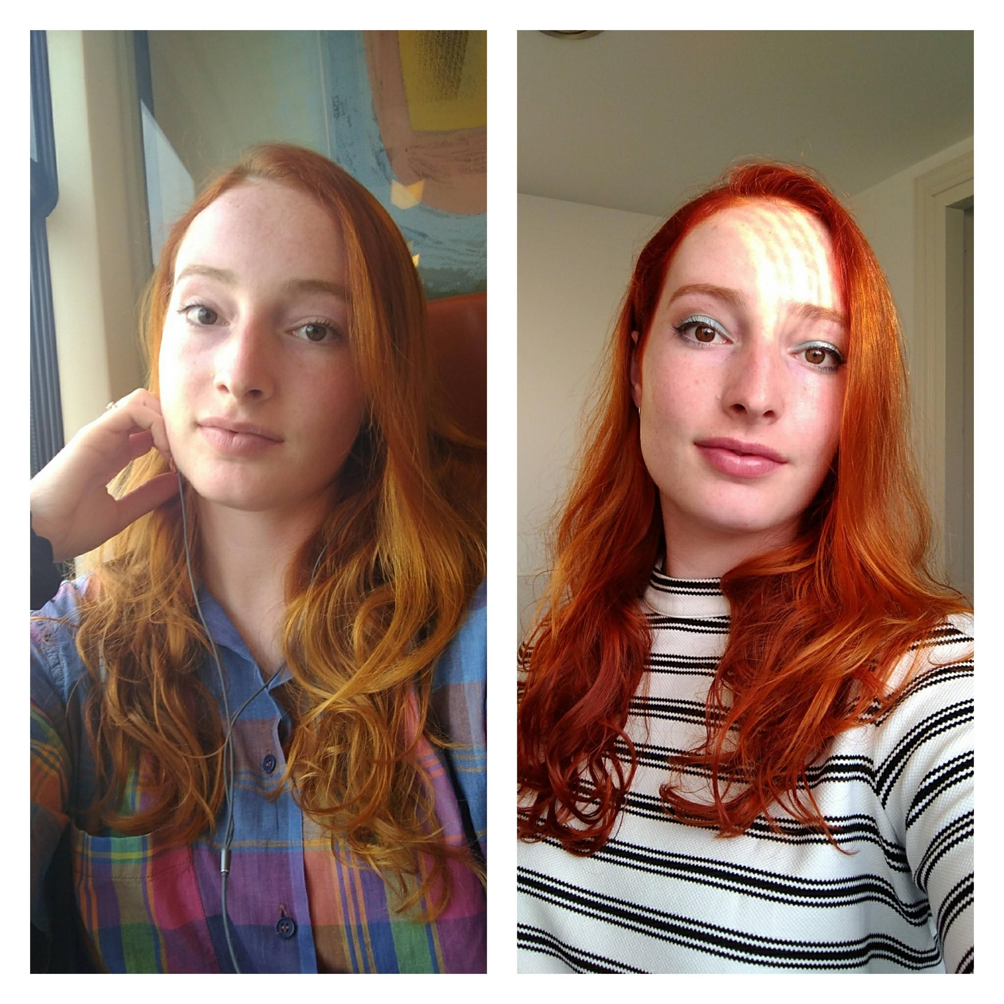Before And After Enhancing My Own Faded Red Hair With Henna Beautiful Freckles Red Hair Ginger Hair