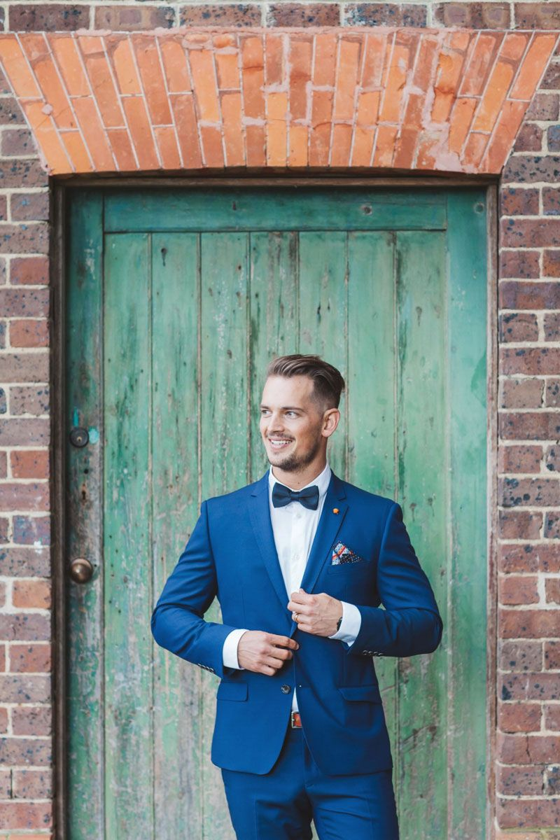 Blue Suit; Real Bride Isabelle marries in Demetrios Platinum 330 ...