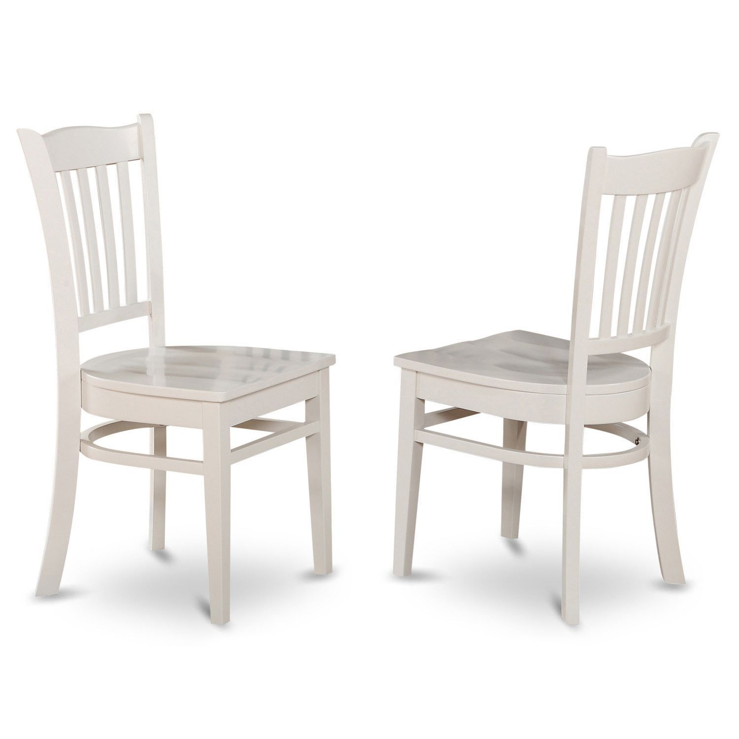 Groton wooden seat dining chair linen white rubberwood white wood dining chairs