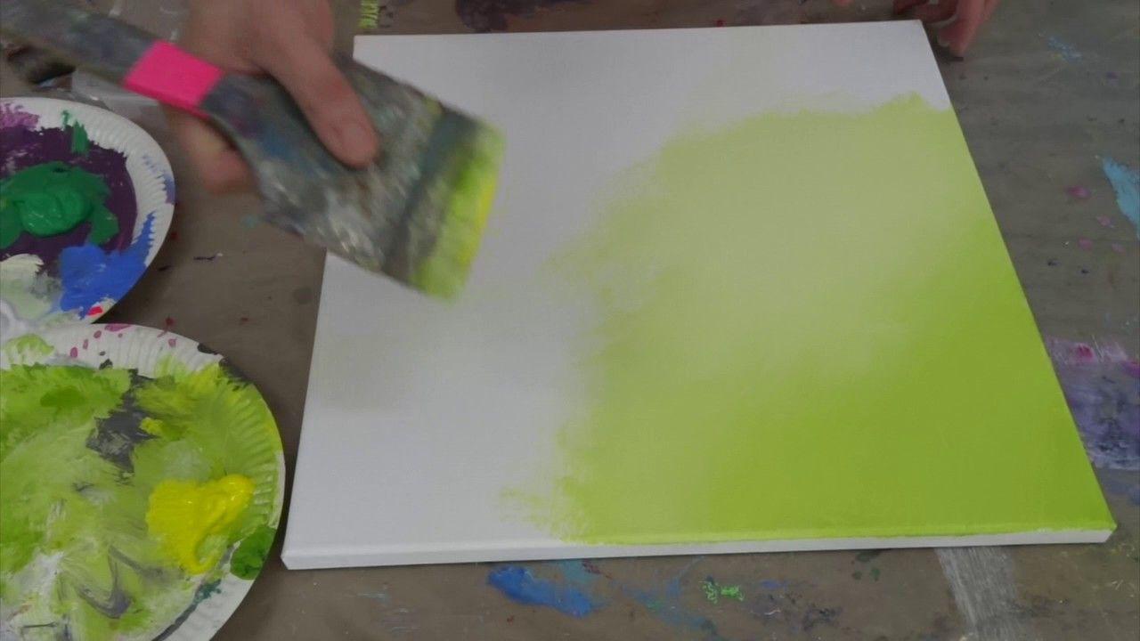 Atelier-Farbraeume - Maltechnik: Weicher Farbverlauf