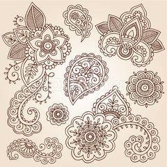 henna paisley tattoo mandala doodles vector design elements tattoo rh pinterest nz paisley sleeve tattoo ideas paisley sleeve tattoo ideas