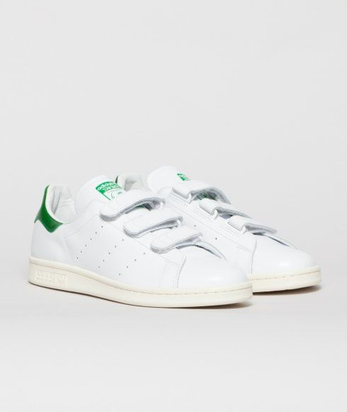 100% authentic cd6b2 3f9c3 adidas Originals x NIGO Stan Smith CF. Featuring a velcro straps, green  leather heel tab and off-white rubber outsole. Finished off with a custom  printed ...