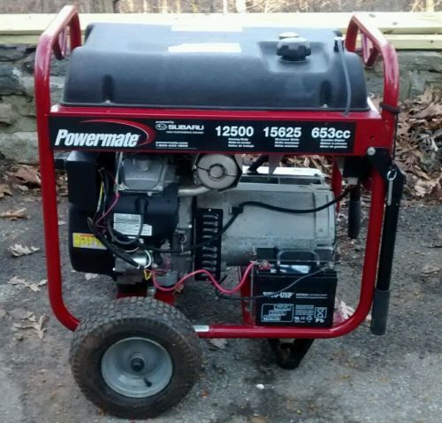 Powermate 12500 Watt Portable Generator Nyc Area Pm0601258 Portable Generator Nyc Portable