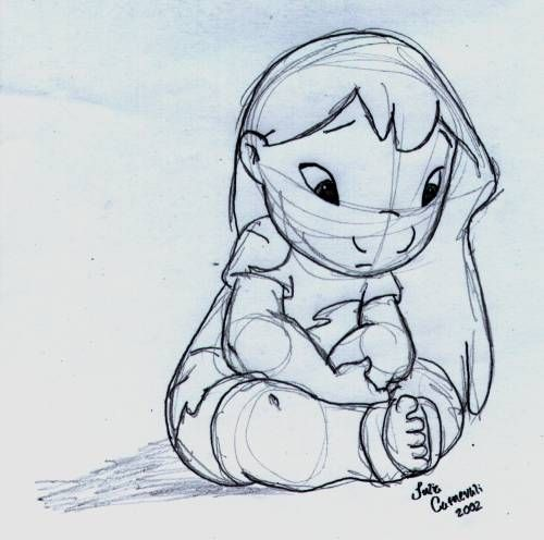 Lilo and Stitch, one of my favorites! learning to draw (originally from Lilo Pelekai)