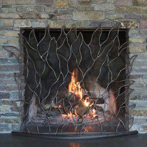 Rustic Fireplace Screen Rustic Fireplace Screens Custom