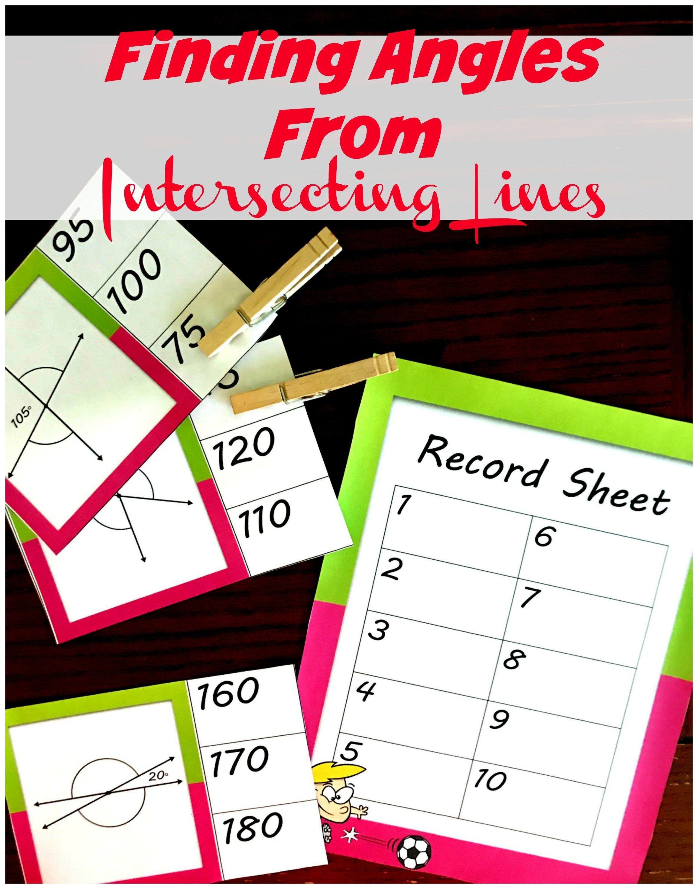 Free Colorful Adjacent And Vertical Angle Activity With