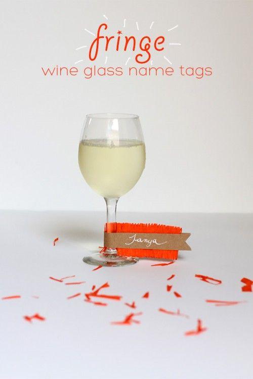 Diy Fringe Wine Glass Name Tags Wine Glass Markers Diy Wine Glass Wine