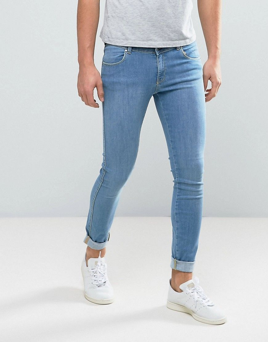 Dr Denim Dixy Muscle Fit Jeans Organic Light Blue - Blue   white ... 91855908f6dc
