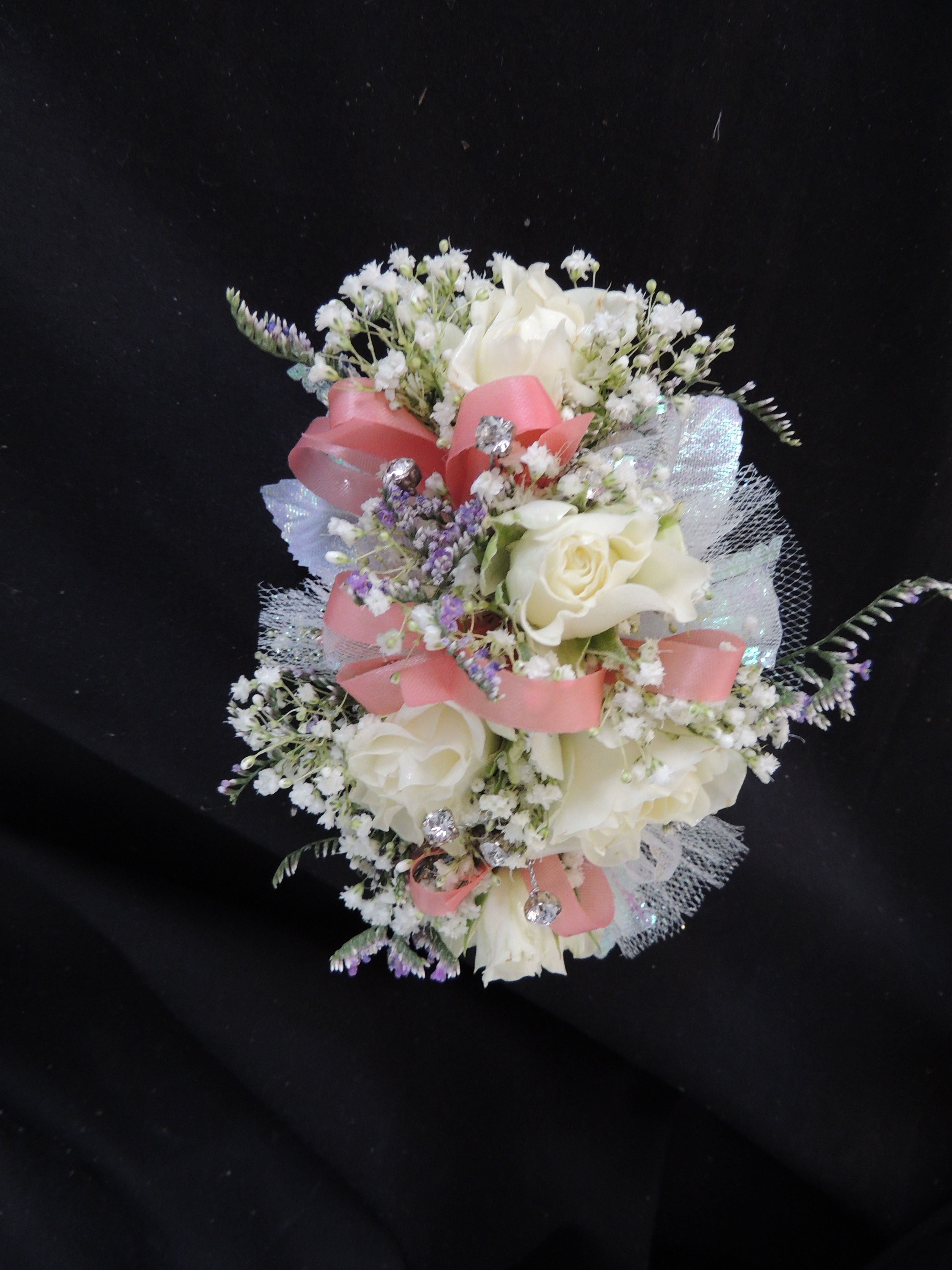 Prom Homecoming Matching Corsage And Boutonniere Ivory Rose