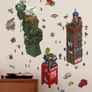 NY eCity Re-Stik Wall Decals, $35, now featured on Fab.