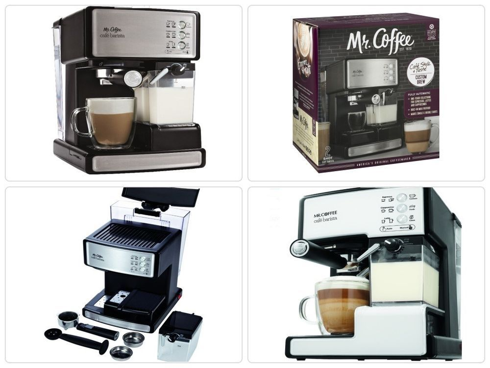 Cafe Barista Espresso Coffee Maker Machine Automatic Milk Frother Cuccino New Mrcoffee