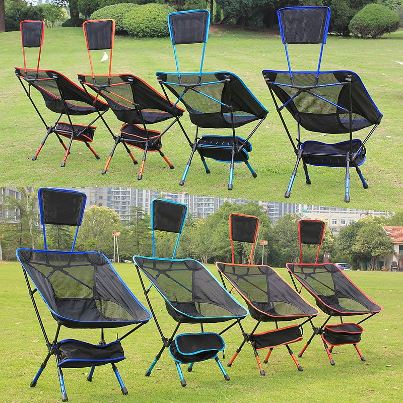 fishing chair for bad back wing recliner canada new portable outdoor folding bungee beach yard patio lawn camping camp