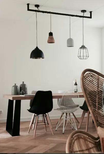 Stoere lamp | Eetkamer | Pinterest - Lampen, Eetkamer en Verlichting