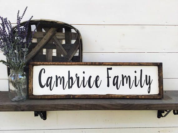 Family Name Sign Last Name Sign It is 8 x 30 with its frame which is ...