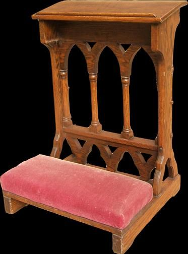 Prie Dieu Is A Kneeling Bench Prayer Room Stained Glass Windows Church Prayers