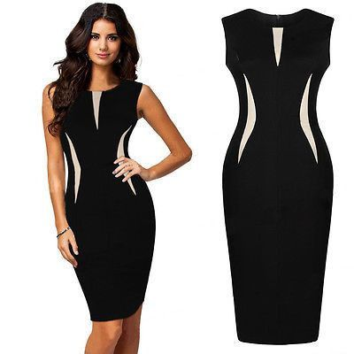 955bcfe0384 New Women Summer Bodycon Pencil Cocktail Evening Party Dress PLUS SIZE  810121416 in Clothing