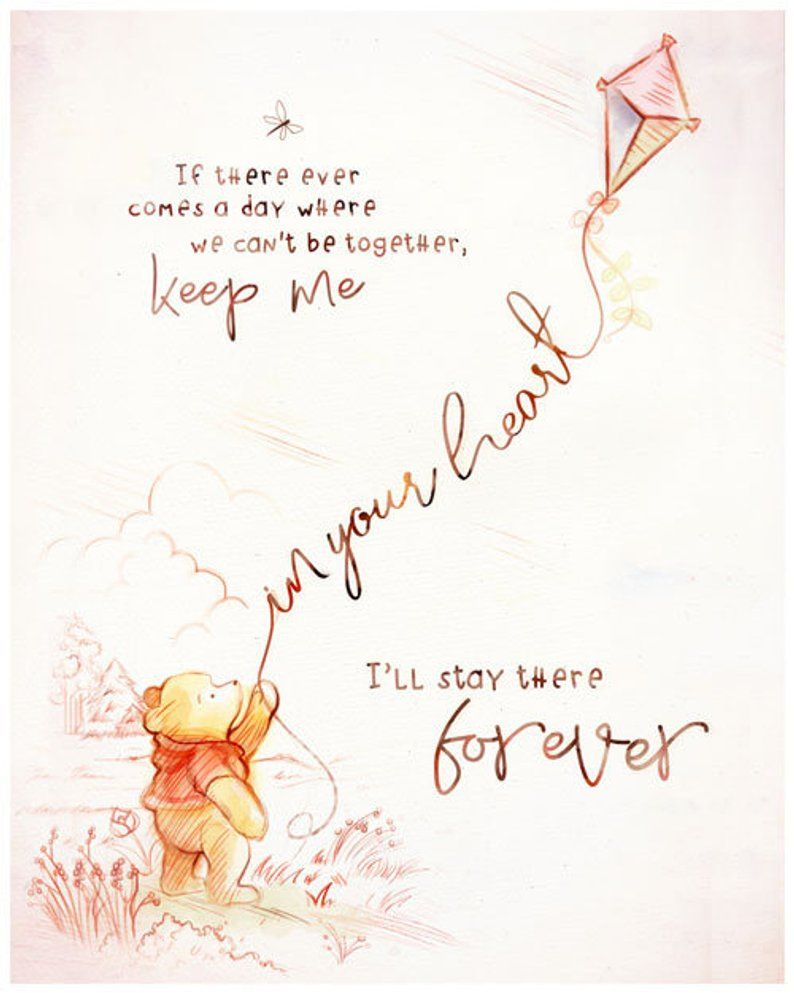 Winnie The Pooh Keep Me In Your Heart Quote Piglet Etsy Winnie The Pooh Quotes Pooh Quotes Heart Quotes