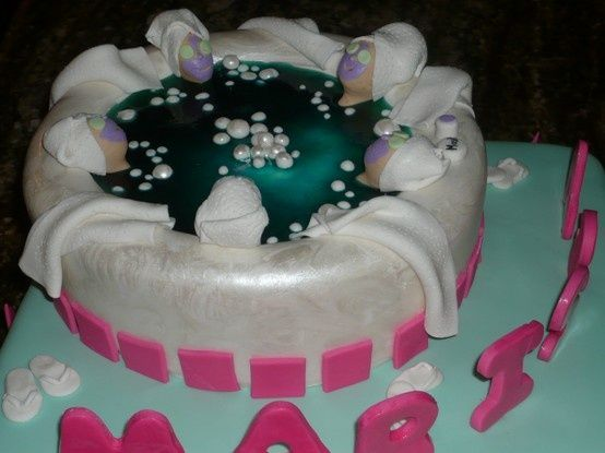 Pintrest Cake Ideas For A Spa Bday Party For Tweens Pin Spa - Spa birthday party cake