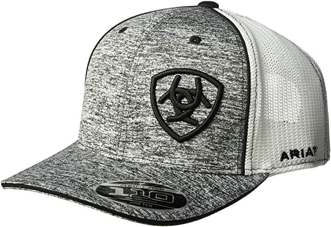 Ariat Men/'s Black Red Gray Mesh Hat One Size