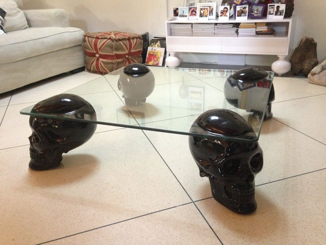 Skull Glass Coffee Table httptherapybychancecom Pinterest