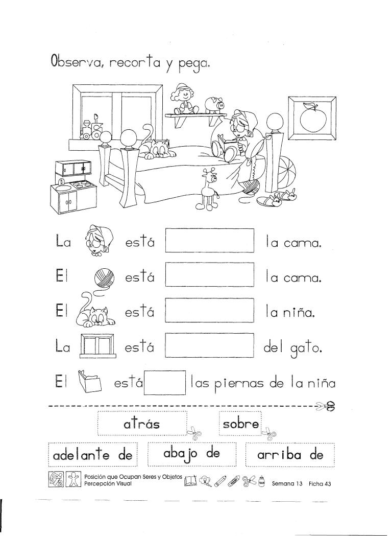 Posición Que Ocupan Seres Y Objetos 1er Grado Material De Aprendizaje Spanish Learning Activities Elementary Spanish Spanish Activities