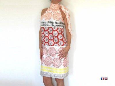 Patron de couture - Robe femme à col lavallière