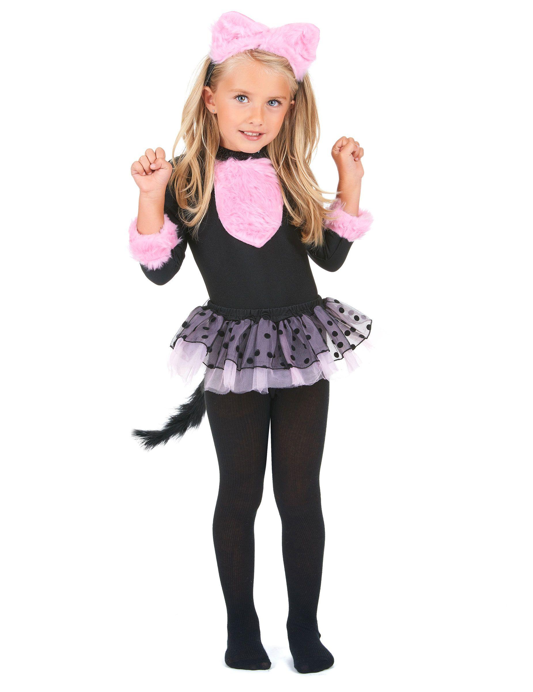 Kinder Katzenkostum Rosa Schwarz Gunstige Faschings Kostume Bei
