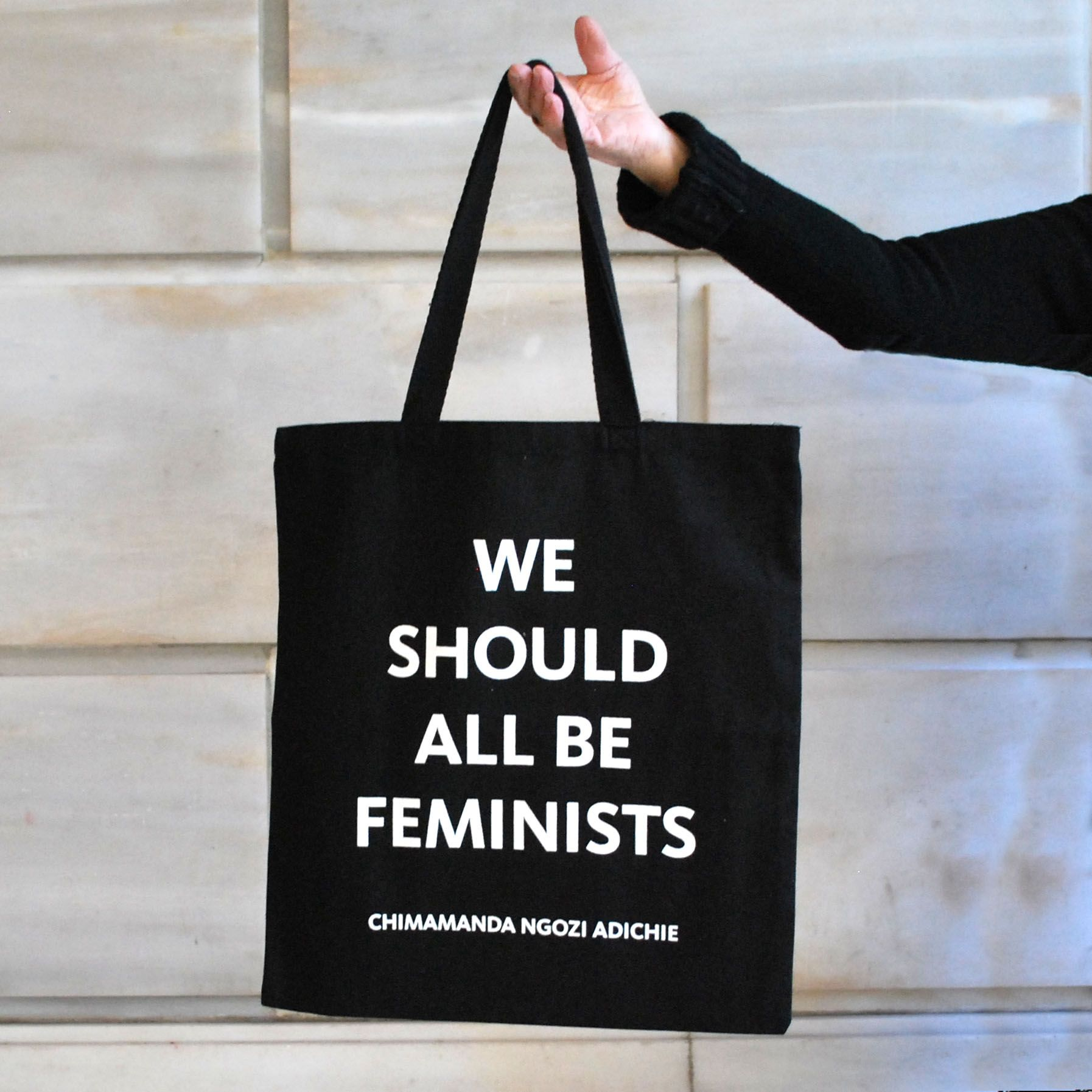 7446965d5c Double sided tote bag. NYPL Logo and We Should All Be Feminists printed on  the reverse.