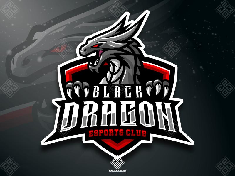 Black Dragon Logo Keren Logo Hewan Seniman Jalanan