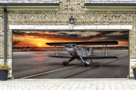 Airplane Garage Door Banners Decoration Plane Helicopter Military