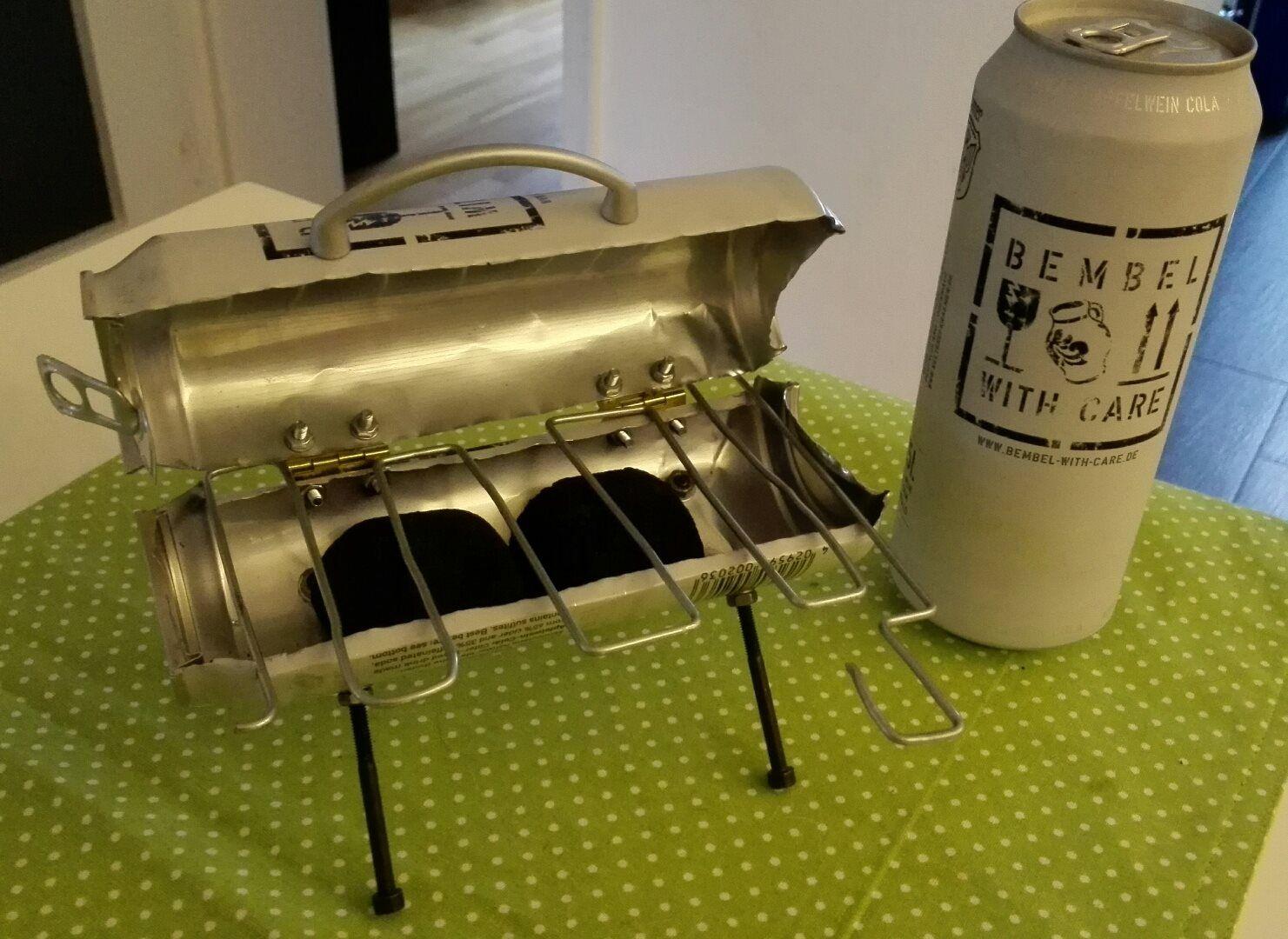 der bwc single grill gebastelt aus einer einzigen dose vielleicht eine inspiration f r den. Black Bedroom Furniture Sets. Home Design Ideas