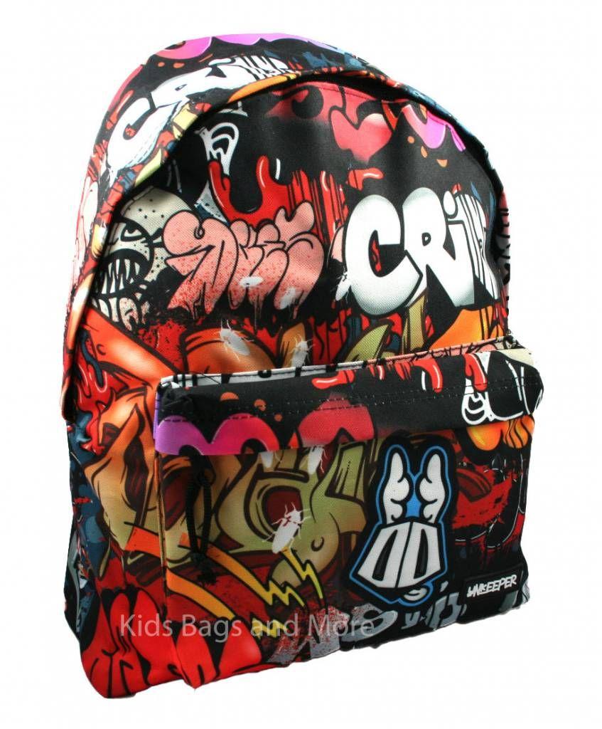 d05522c3dd9 Unkeeper Schooltas Graffiti   Schooltassen - Bags, Backpacks en Fashion