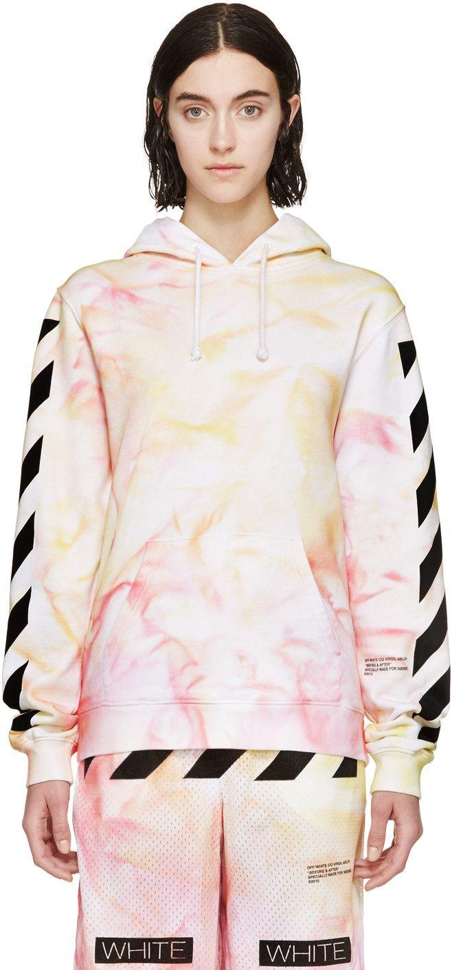 Off White Ssense Exclusive Pink Yellow Tie Dye Hoodie Tie Dye Hoodie Off White Clothing Yellow Ties [ 1412 x 658 Pixel ]