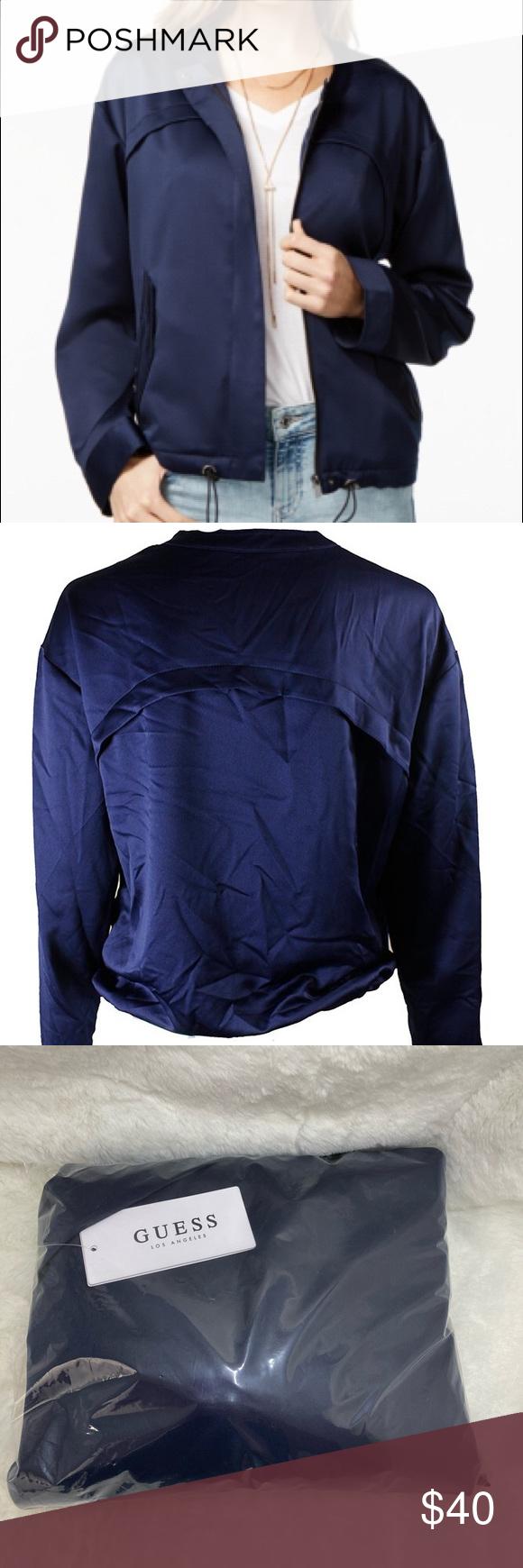 Guess Navy Crew Neck Zip Jacket Xs Jacket Brands Clothes Design Zip Jackets [ 1740 x 580 Pixel ]